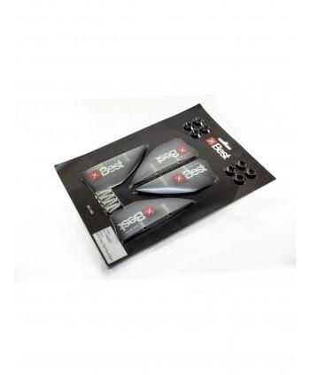 Aksesuarai Twin Tip Fins 4.5mm Smoke